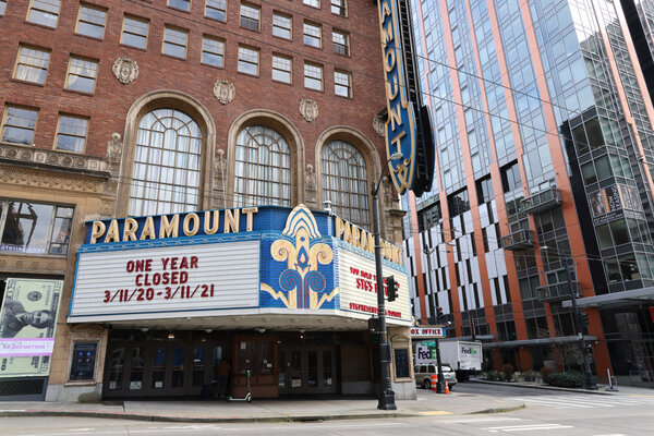 Theater ticket sales dropped 72 percent in 2020, while subscriptions to online video services grew 26 percent.