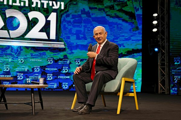 Prime Minister Benjamin Netanyahu of Israel takes personal credit for the country's vaccination campaign, which has fully vaccinated about half the population of nine million.