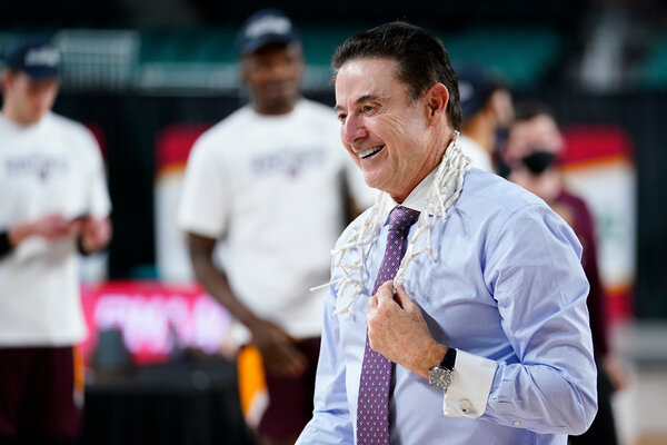 Coach Rick Pitino and the Iona Gaels won the Metro Atlantic Athletic Conference tournament to earn their bid to the N.C.A.A. tournament.