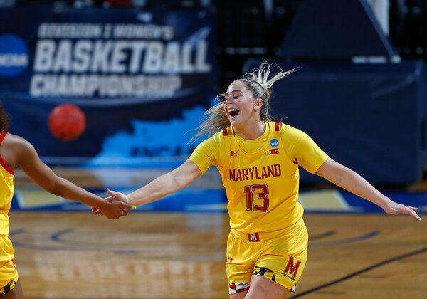 Faith Masonius had a nearly flawless game for Maryland to reach the Sweet 16.