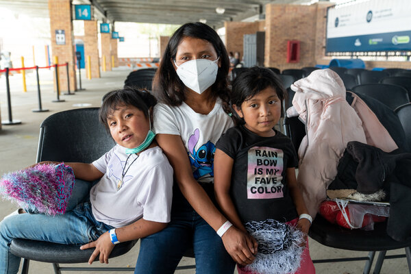 Elisabet Arreada Lopez and her two young daughters are among a large number of families who have recently set out from Guatemala hoping to start a new life in the United States.