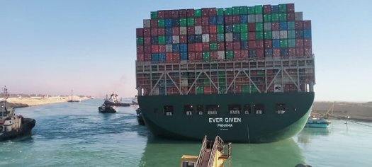 The Ever Given cargo ship was stuck in the Suez Canal nearly a week.