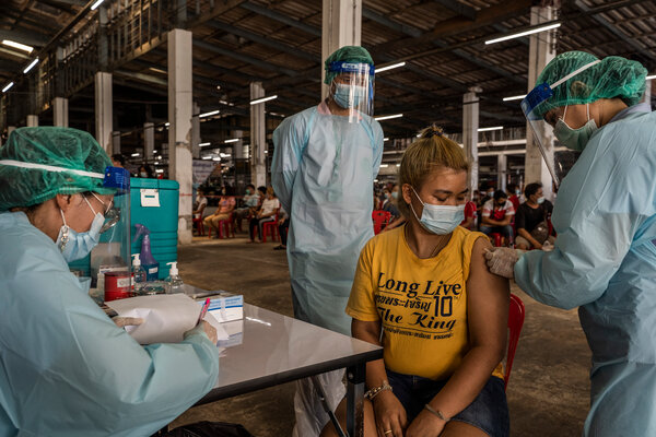 Vaccinations at a market in Bangkok this month. The suggested treaty is an acknowledgment that the current system of international health institutions has proved inadequate.