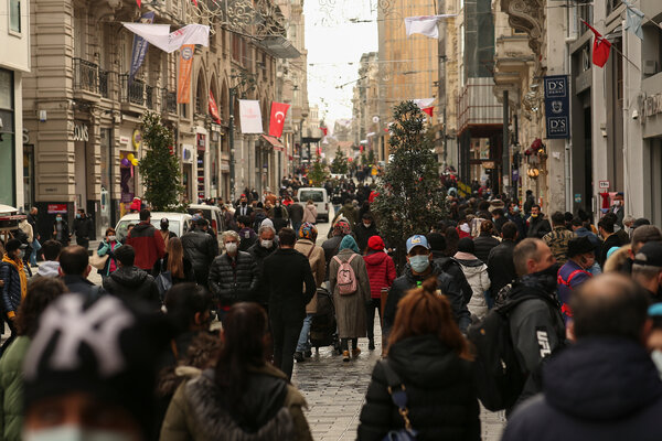 A main shopping street in Istanbul last week. On Wednesday, Turkey recorded its highest single-day total of new infections since the pandemic began.