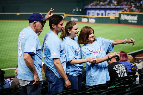 Rangers fans got a glimpse at the Globe Life Field during a pair of exhibition games on Monday and Tuesday.