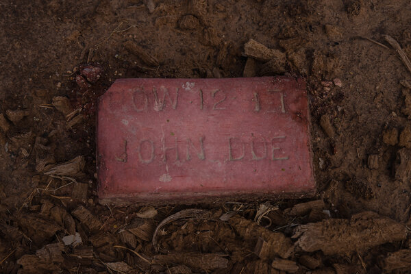 """A """"John Doe"""" buried in a section of Terrace Park Cemetery in Holtville, Calif., that is reserved for undocumented migrants who perished trying to reach the United States."""