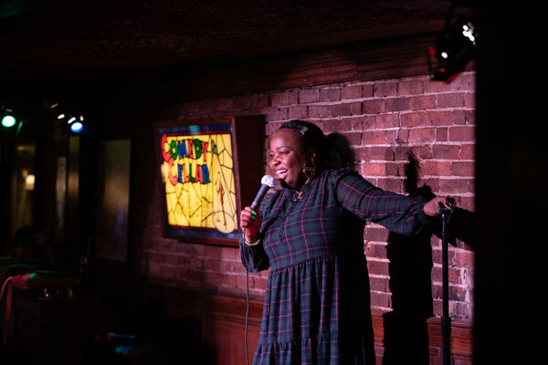 Jackie Fabulous performs Friday at the Comedy Cellar in Manhattan.