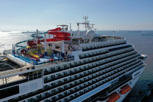 A Carnival cruise ship docked last year in Long Beach, Calif. The cruise line has threatened to move its ships outside of U.S. ports.