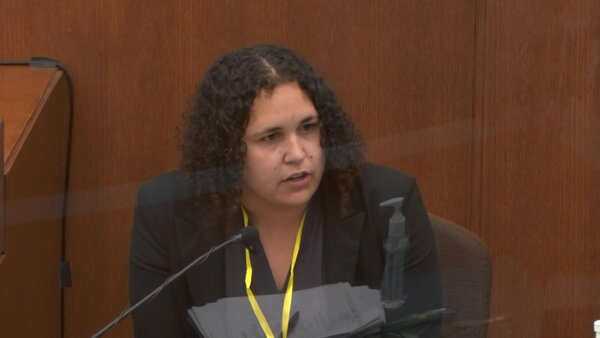 Forensic scientist Breahna Giles testified on Wednesday about pills found in the police cruiser.