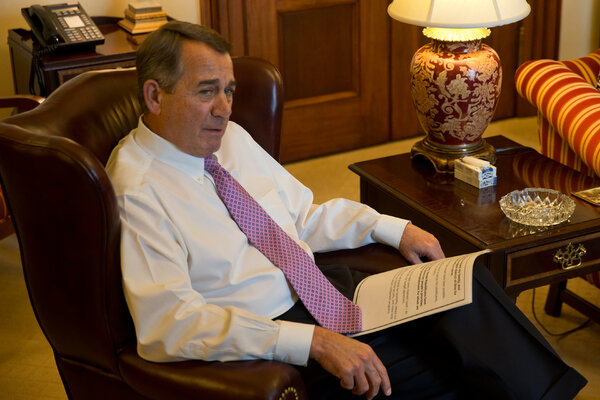 Speaker John Boehner, Republican of Ohio, during an interview in October 2015, the month he left his position.