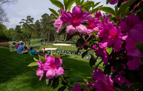 A view of the 16th green at August National Golf Club on Thursday.