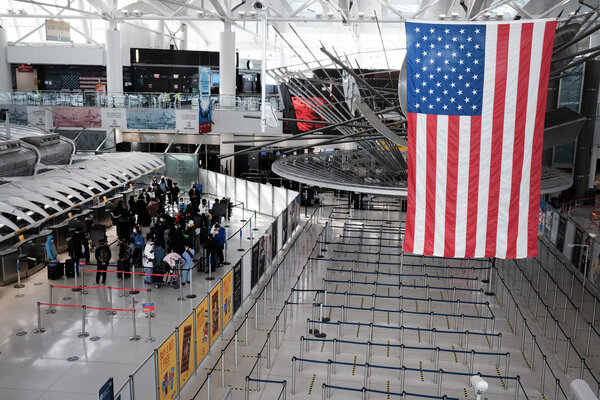 John F. Kennedy Airport in New York in January.