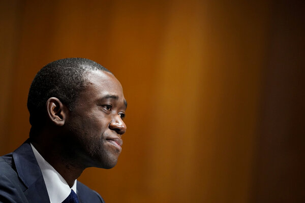 """Wally Adeyemo, the deputy secretary of the Treasury Department, saidthe new structure was being created to ensure """"a smooth and equitable implementation of relief and recovery programs."""""""