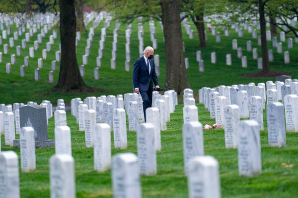 President Joseph R. Biden Jr. visits Arlington National Cemetery to pay his respects to service members who have lost their lives.