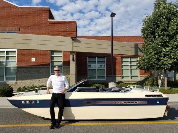 Tim Lorentz with the LaBoata in Spokane, Wash.