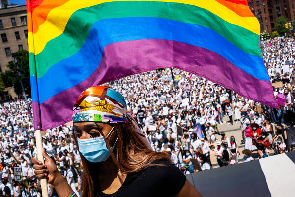A pride march outside of the Brooklyn Museum last June tocall attention to violence against transgender people.