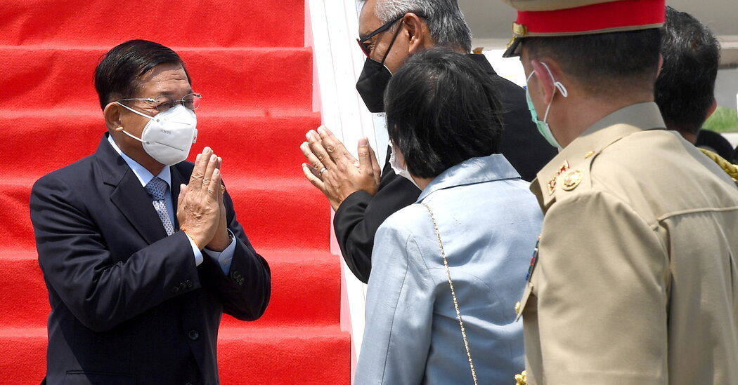 Myanmar Coup Leader Arrives in Indonesia for Asean Summit