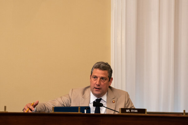 Representative Tim Ryan of Ohio speaking at a hearing on Capitol Hill last year.