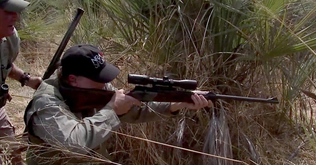 Video of N.R.A. Chief Wayne LaPierre Shooting an Elephant Draws Criticism