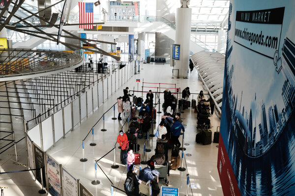 An international terminal in January at Kennedy International Airport.
