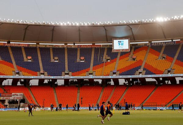 The Narendra Modi Stadium in Ahmedabad, India, last month.
