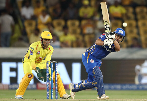 As India staggers from its Covid cases, the Indian Premier League suspended its competition. Pictured is a match in 2019.