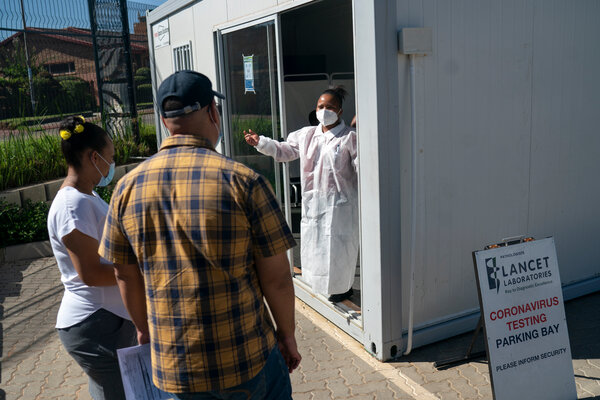 A coronavirus testing center in Soweto, South Africa. The World Trade Organization is considering a proposal to provide drugmakers around the world access to the patents behind coronavirus vaccines.
