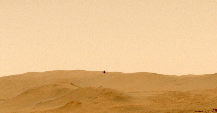 NASA Mars Helicopter Makes One-Way Flight to New Mission