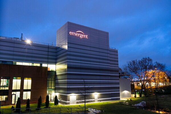 The Emergent BioSolutions plant in Baltimore.Workers for the company accidentally conflated the ingredients of two coronavirus vaccines, one by Johnson & Johnson and the other by AstraZeneca.