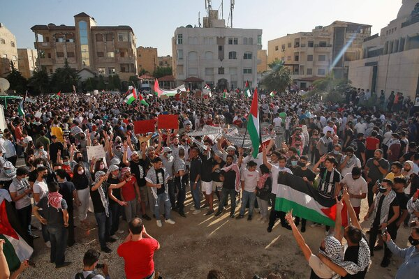 Jordanian protesters gathered near the Israeli embassy in Amman, the capital, this week.
