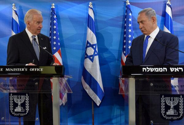 In 2016, Vice President Joseph R. Biden Jr. met in Jerusalem with Prime Minister Benjamin Netanyahu of Israel.