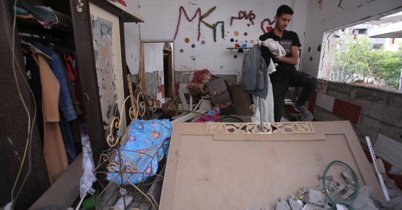 With the fighting suspended, assessing the destruction in Gaza.