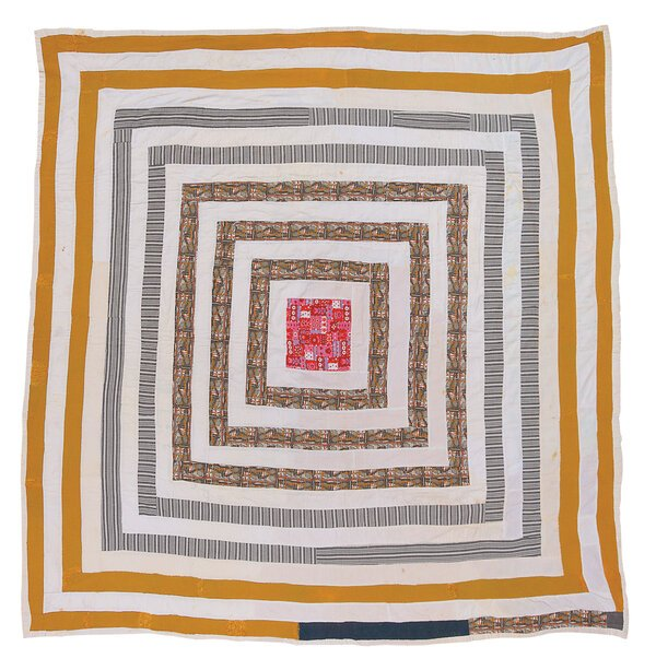 """Malissia Pettway's """"Housetop,"""" one of thequilts made by the women of Gee's Ben, a small, remote, Black community in Alabama."""