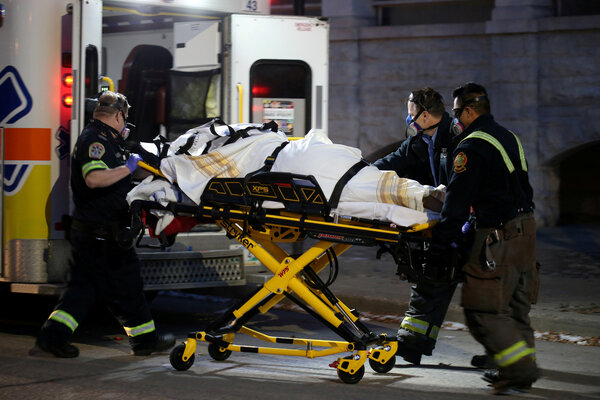 Paramedics in Winnipeg, the capital of Manitoba, Canada, last year.The province, in the prairies in the center of the country, has seen a surge in coronavirus cases recently despite being sparsely populated.