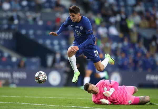 Kai Havertz hurdled City's goalkeeper, Ederson, and scored the game's first goal.