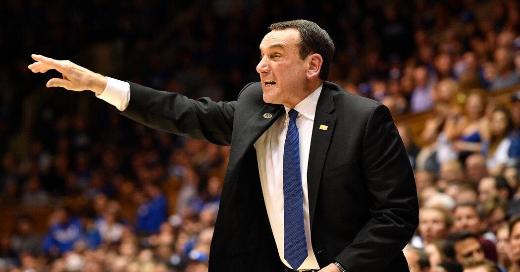 Mike Krzyzewski, Celebrated Duke Coach, Will Retire After Coming Season