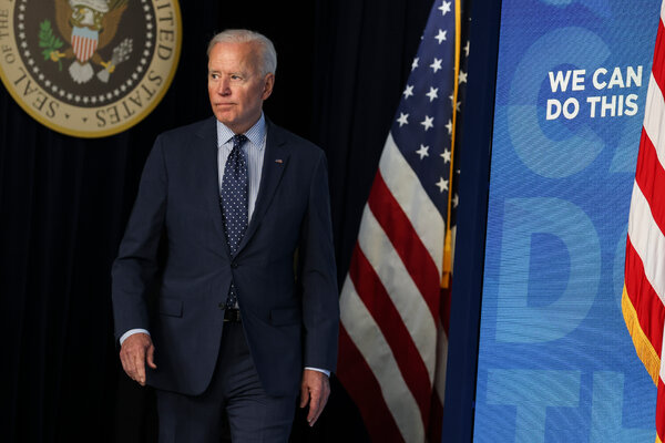 President Joe Biden arrived to speak at the Eisenhower Executive Office Building in Washington on Wednesday.