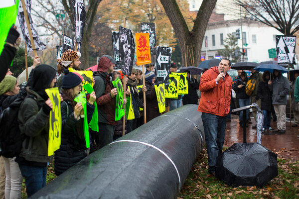 The Keystone XL pipeline faced stiff opposition from environmental activists for years.