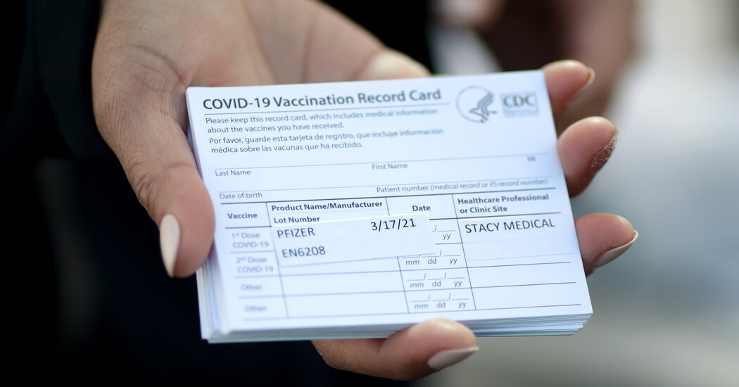 Man Charged With Stealing 500 Covid Vaccine Cards in Los Angeles
