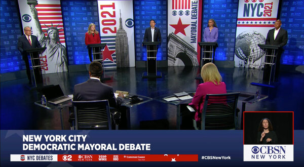 Many sites in New York are named after people who owned slaves, a fact the candidates said they wished to change.