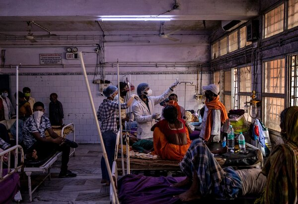 A hospital in Bhagalpur, in the Indian state of Bihar, last year. A review found that more than 9,000 people had died from Covid-related complications  in the northern state since March 2020.