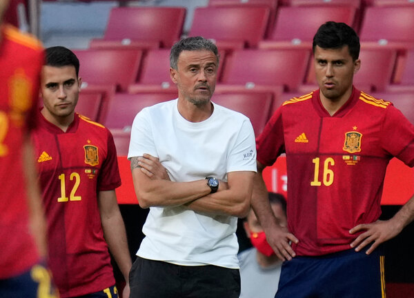 Luis Enrique's preparations were disrupted after two Spain players tested positive for the coronavirus.