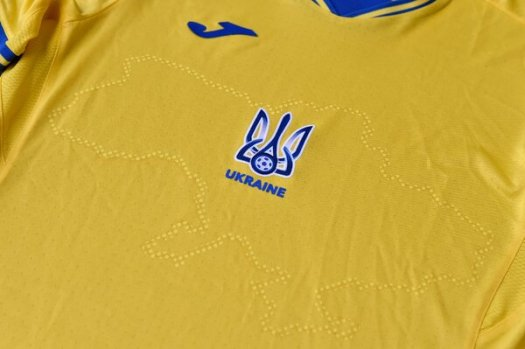 An outline of Ukraine's borders on its team's jerseys includes the Crimean peninsula, which Russia annexed in 2014.