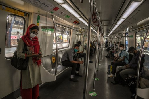 Commuters this month in New Delhi, which has been hit hard by the coronavirus pandemic. Leaders at the Group of 7 summit hope to blunt the impact of future outbreaks with additional resources.