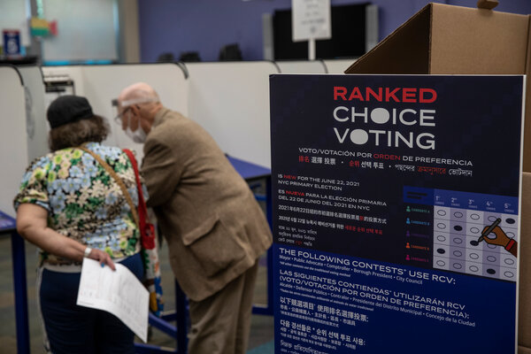 This year marks the first time New York City has used ranked-choice voting in a mayor's race.