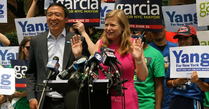 Yang and Garcia Form Late Alliance in Mayor's Race, Drawing Adams's Ire