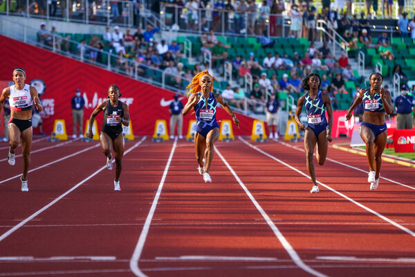 Sha'Carri Richardson won Women 100m and qualified for the Olympic team.