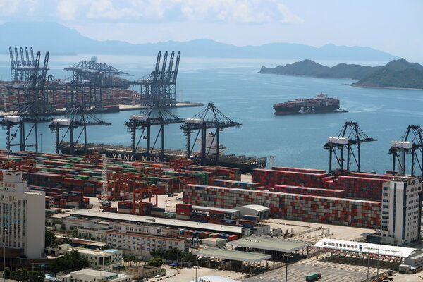 The Yantian port in Shenzhen, China, last year. Efforts to control an outbreak of coronavirus have caused big delays for vessels seeking to pick up goods for North America, Europe and elsewhere.