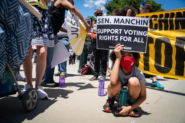 A voting rights protest in front of the U.S. Supreme Court on Wednesday.