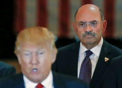 """Allen H. Weisselberg, right, has been a loyal Trump employee for decades. """"Allen was good at doing what Donald wanted him to do,"""" said a former Trump Organization executive."""